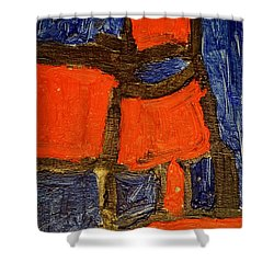 Red Lamps Shower Curtain
