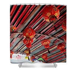 Shower Curtain featuring the photograph Red Lanterns 1 by Randall Weidner
