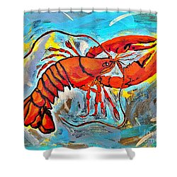 Red Lobster Abstract  Shower Curtain by Scott D Van Osdol