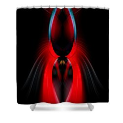 Red Lure Shower Curtain by Cherie Duran