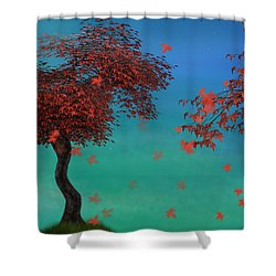 Red Maples Shower Curtain