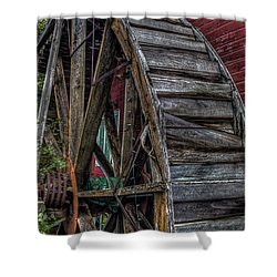 Red Mill Wheel 2007 Shower Curtain