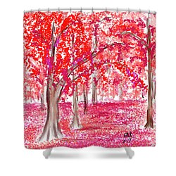 Red Mood Shower Curtain by Angela A Stanton