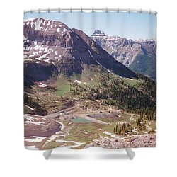Red Mountain Shower Curtain by Dale Jackson