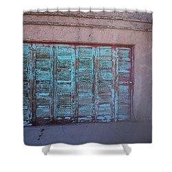 Red Mountain Garage Shower Curtain