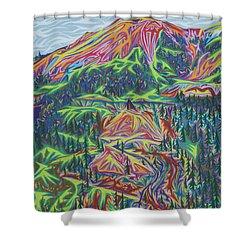 Red Mountain Shower Curtain by Robert SORENSEN