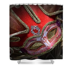 Red Musical Melody Shower Curtain