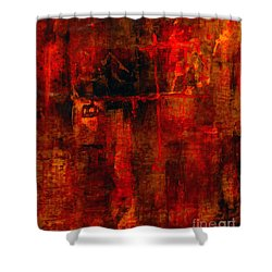 Red Odyssey Shower Curtain by Pat Saunders-White