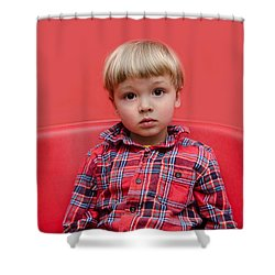 Red On Red Shower Curtain