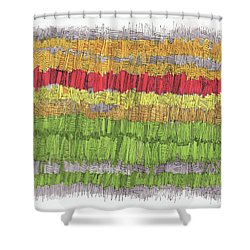 Red On The Horizon Shower Curtain by Sandra Church
