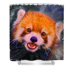 Red Panda Cub Shower Curtain