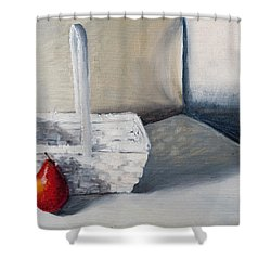 Red Pear Shower Curtain