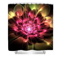 Red Peony Shower Curtain