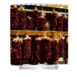 Red Peppers Shower Curtain by David Lee Thompson