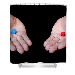 Red Pill Blue Pill Shower Curtain
