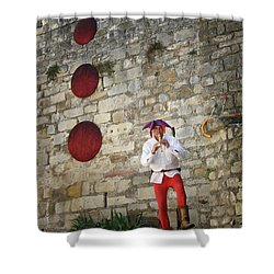 Red Piper Shower Curtain