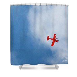 Red Plane Shower Curtain