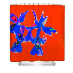 Red Provence Orchid Shower Curtain by Richard Patmore
