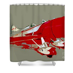Red Racer Shower Curtain by David Lee Thompson