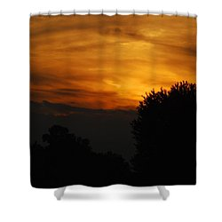 Red Red Sunset Shower Curtain