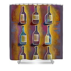 Red Red Wine Shower Curtain by Carla Bank