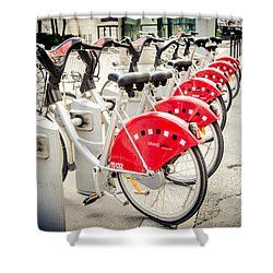 Shower Curtain featuring the photograph Red Rider by Jason Smith