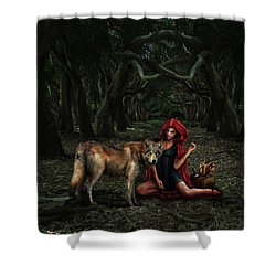 Red Riding Hood Shower Curtain