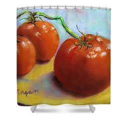 Red Ripe And Ready Shower Curtain