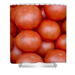 Red Ripe Tomatoes Shower Curtain by John Trax