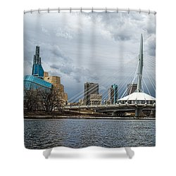 Red River At Winnipeg Shower Curtain