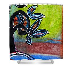 Red River Blossoms Shower Curtain