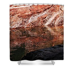 Red River Shower Curtain by Donna Blackhall