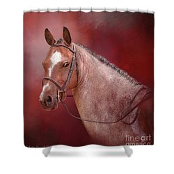 Red Roan Shower Curtain by Kathy Russell
