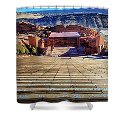 Red Rock Amphitheater Shower Curtain by Barry Jones