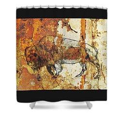Red Rock Bison Shower Curtain