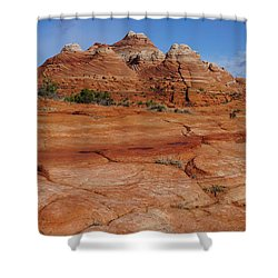Red Rock Buttes Shower Curtain