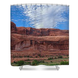 Red Rock Canyon Shower Curtain by Heidi Hermes
