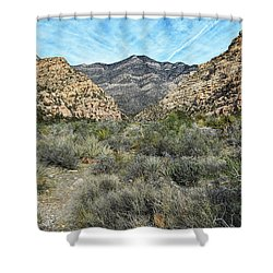 Shower Curtain featuring the photograph Red Rock Canyon - Nevada by Glenn McCarthy Art and Photography