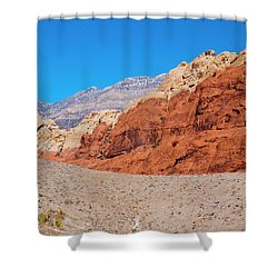 Red Rock Canyon Shower Curtain by Rae Tucker