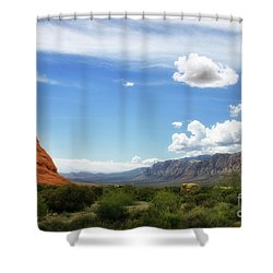 Red Rock Canyon Vintage Style Sweeping Vista Shower Curtain