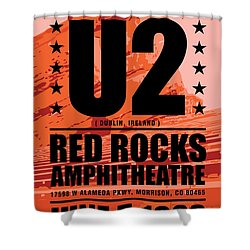Red Rock Concert Shower Curtain