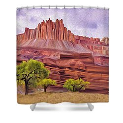 Red Rock Cougar Shower Curtain