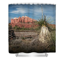 Shower Curtain featuring the photograph Red Rock Formation In Sedona Arizona by Randall Nyhof