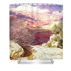 Red Rock Shower Curtain by Marna Edwards Flavell