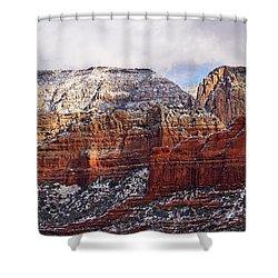 Red Rock Peaks Shower Curtain