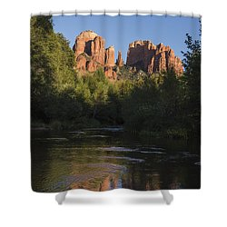Red Rock Reflections Shower Curtain