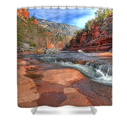 Red Rock Sedona Shower Curtain by Kelly Wade