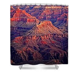 Red Rock Sunset Shower Curtain