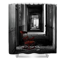 Red Rocker - Preston Castle Shower Curtain