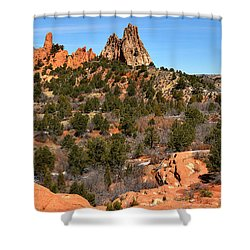 Shower Curtain featuring the photograph Red Rocks At High Point by Adam Jewell
